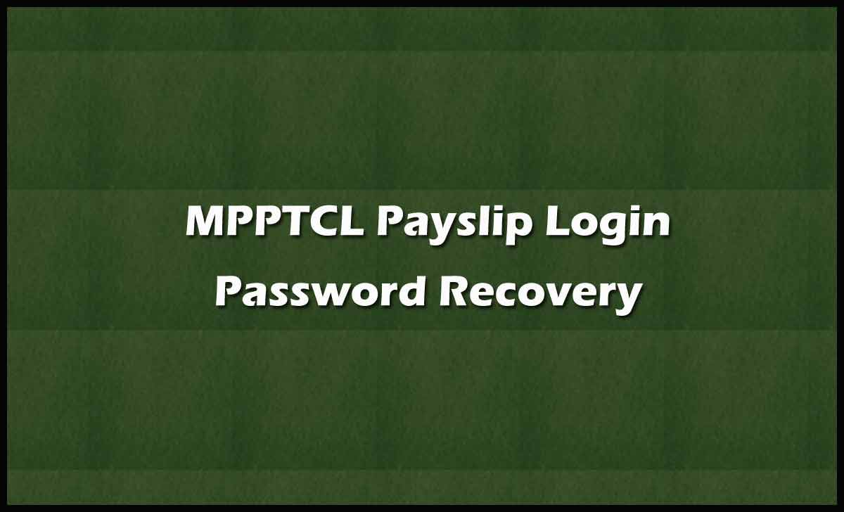 MPPTCL Login Password Recovery
