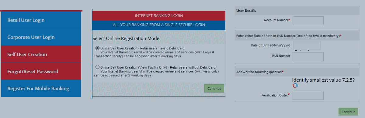 UBI Net Banking Registration