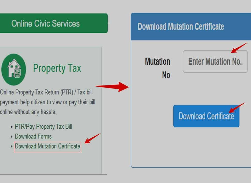 Delhi Property Mutation Certificate Download Online