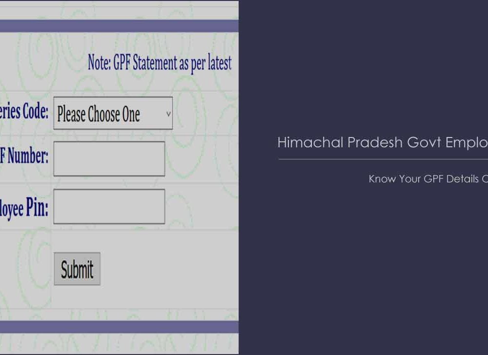 HP (Himachal Pradesh) GPF Statement Online to Find Balance