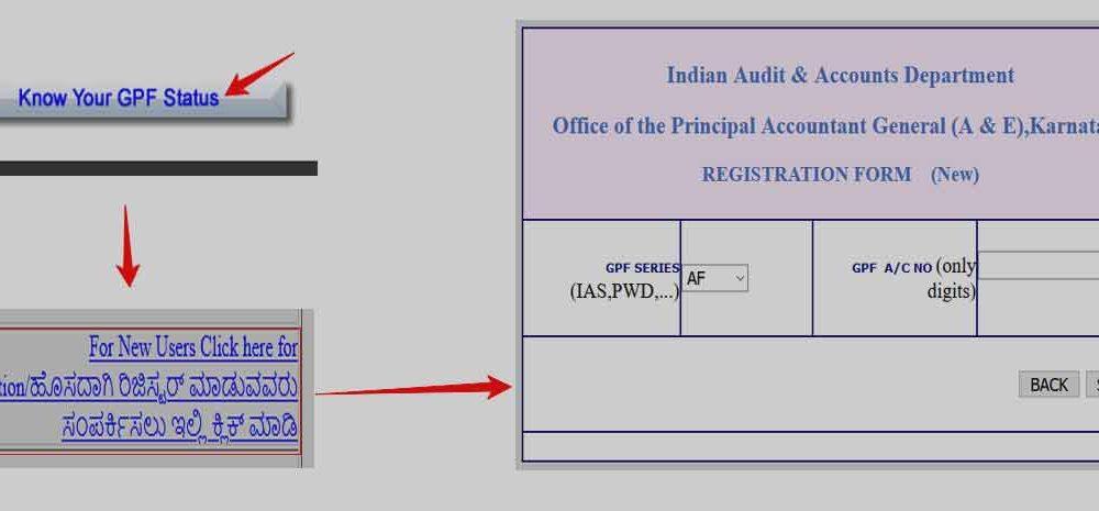 Karnataka GPF Slip Portal Registration Online