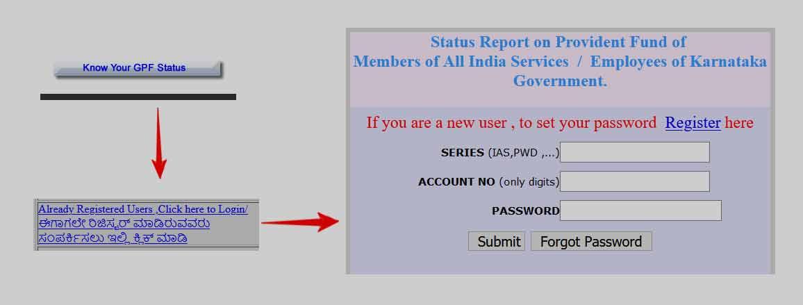 Karnataka GPF Statement Download