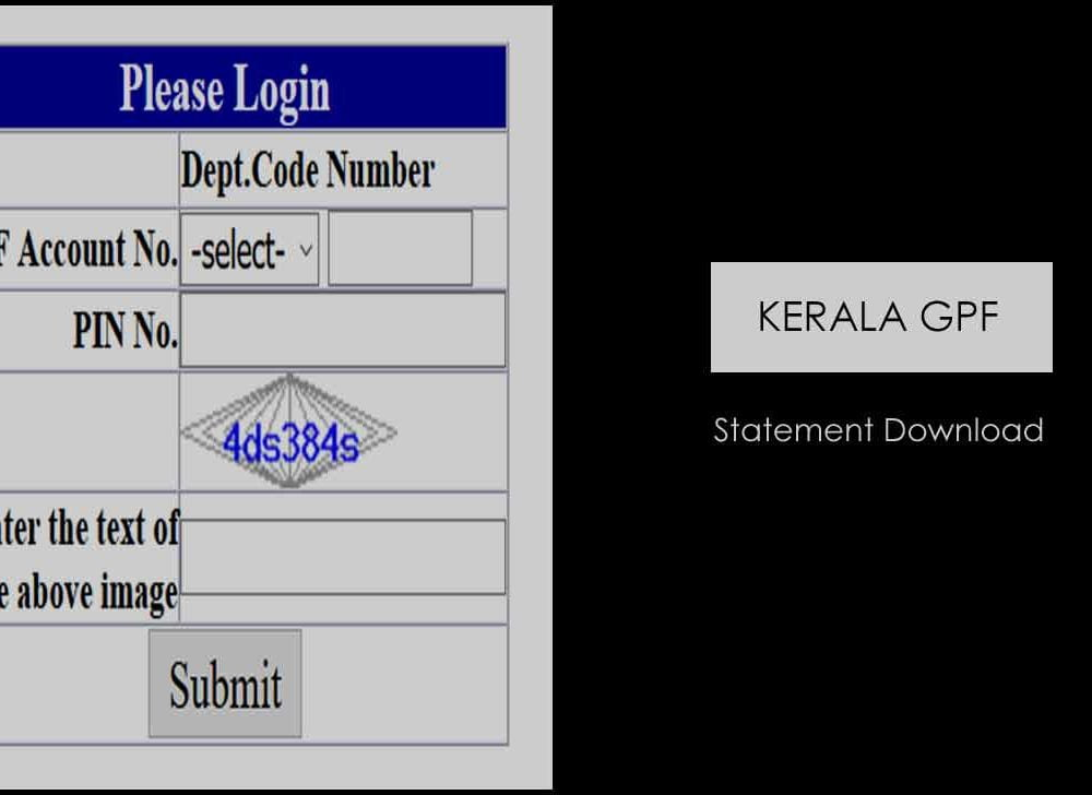 Kerala GPF Statement Download at Accountant General Portal