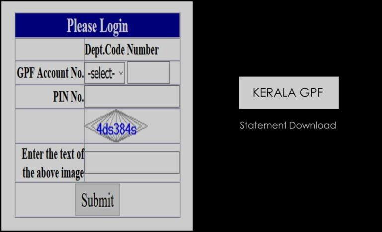 Kerala GPF Slip Download Online