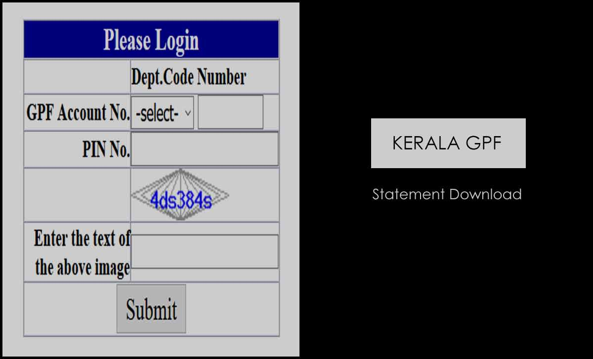 Kerala GPF Statement Download Online