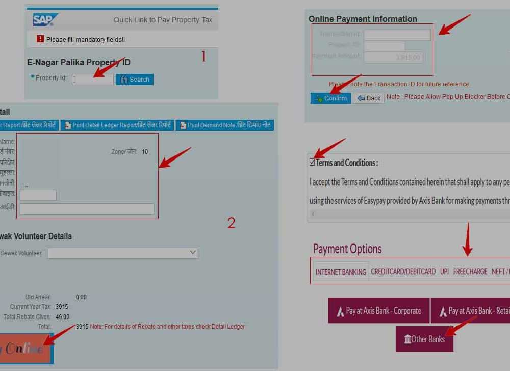 MP Property Tax Payment Online with Login / Quick Pay