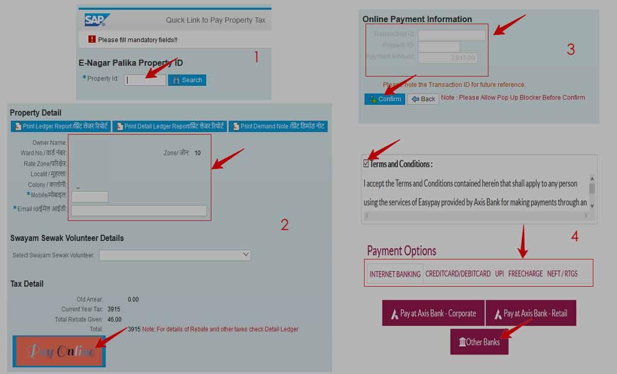 MP Property Tax eNagarPalika Online Tax Payment