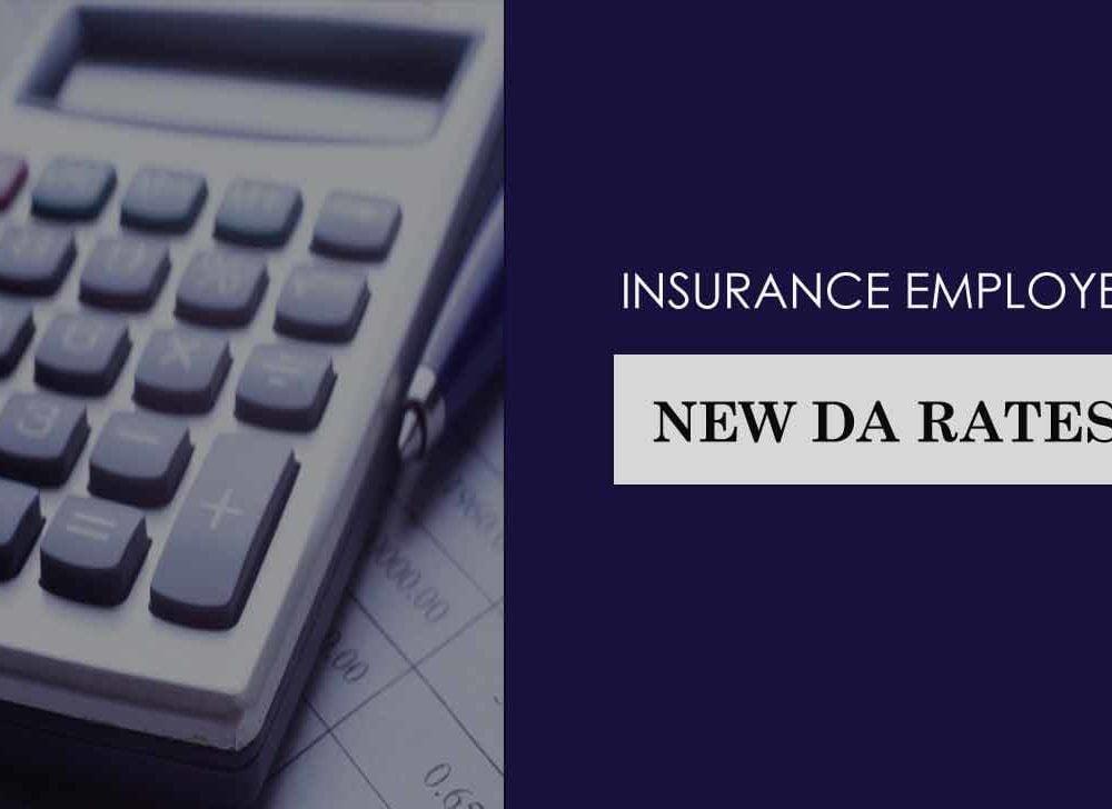 Insurance Employee DA Rates – New DA Slabs from 01.11.2020