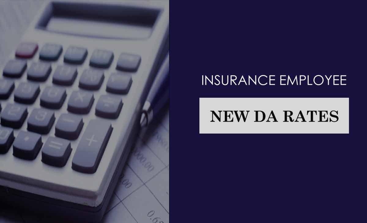 Insurance Employee DA Rates
