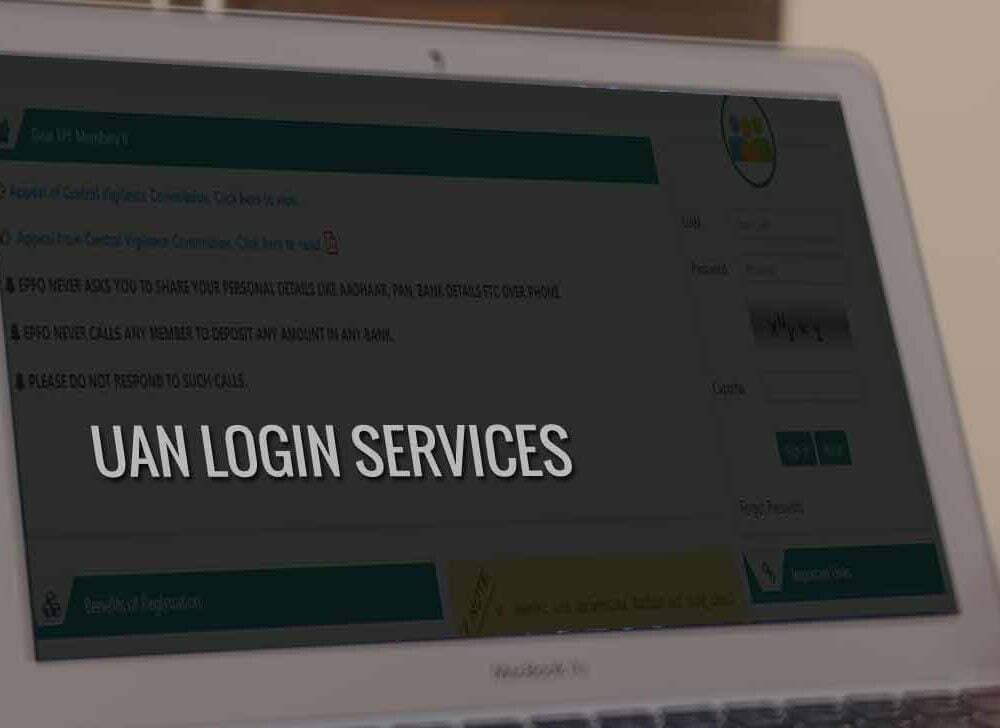 EPF UAN Login for EPFO Member Services Online