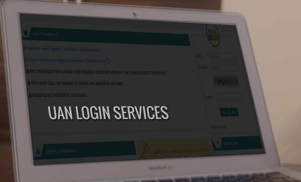 EPF UAN Login Services