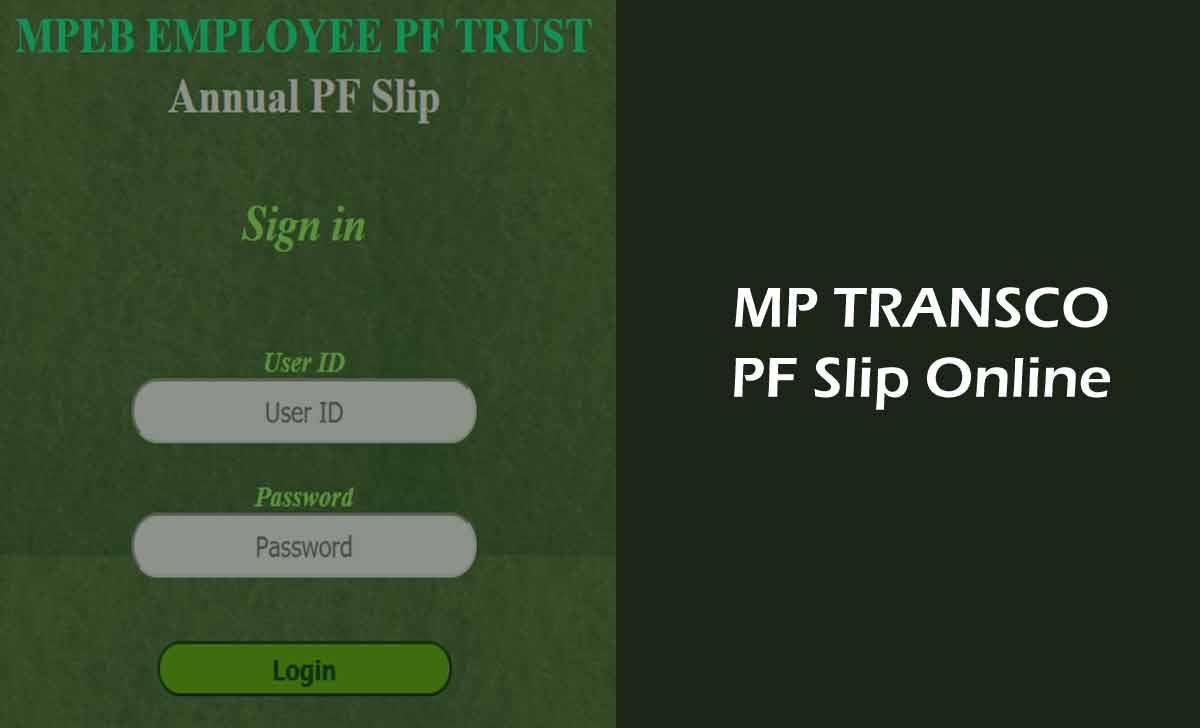 MP Transco PF Statement Download New Slip