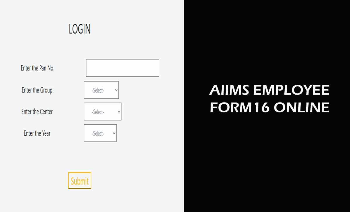 AIIMS Form 16 Download Online
