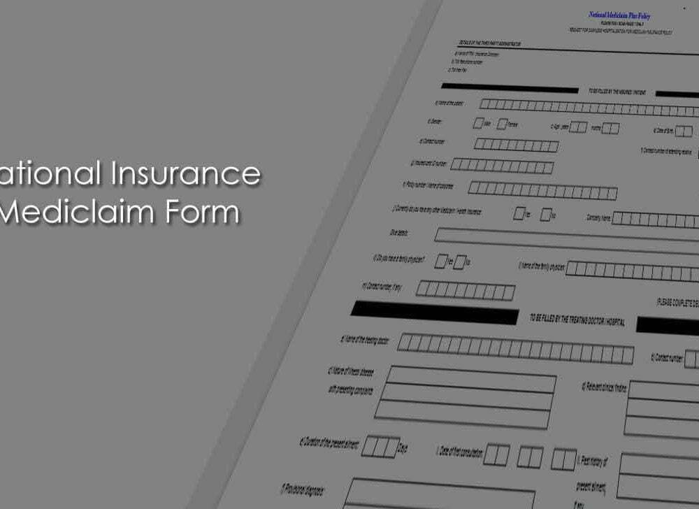 National Insurance (National Mediclaim Plus Policy) Claim Form