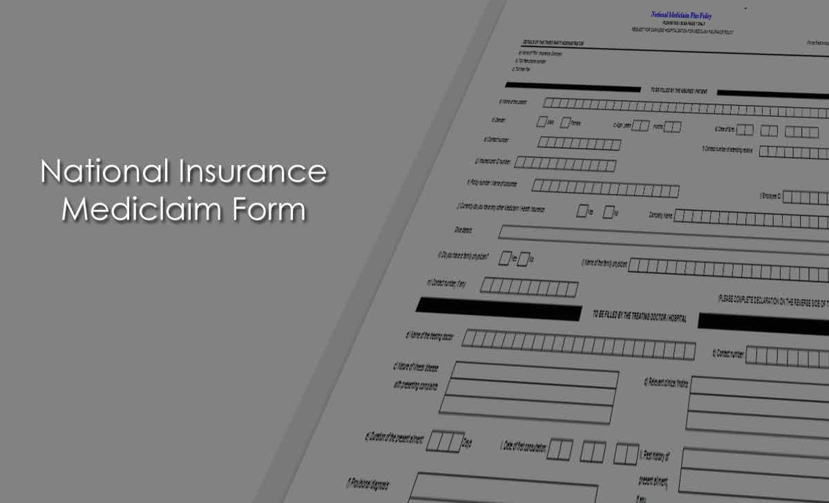 National Insurance Mediclaim Form