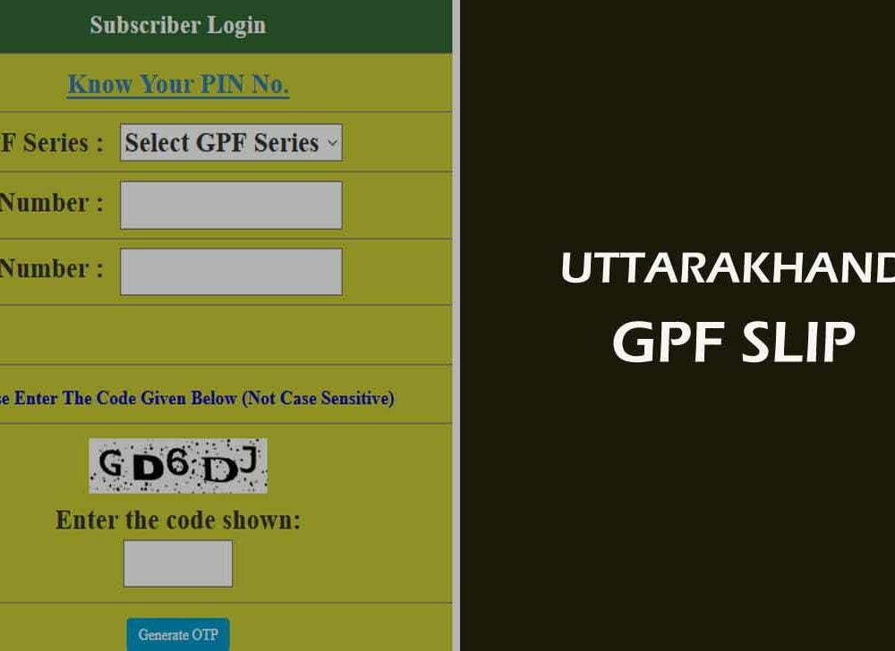 Uttarakhand GPF Statement Download Online for Annual Account