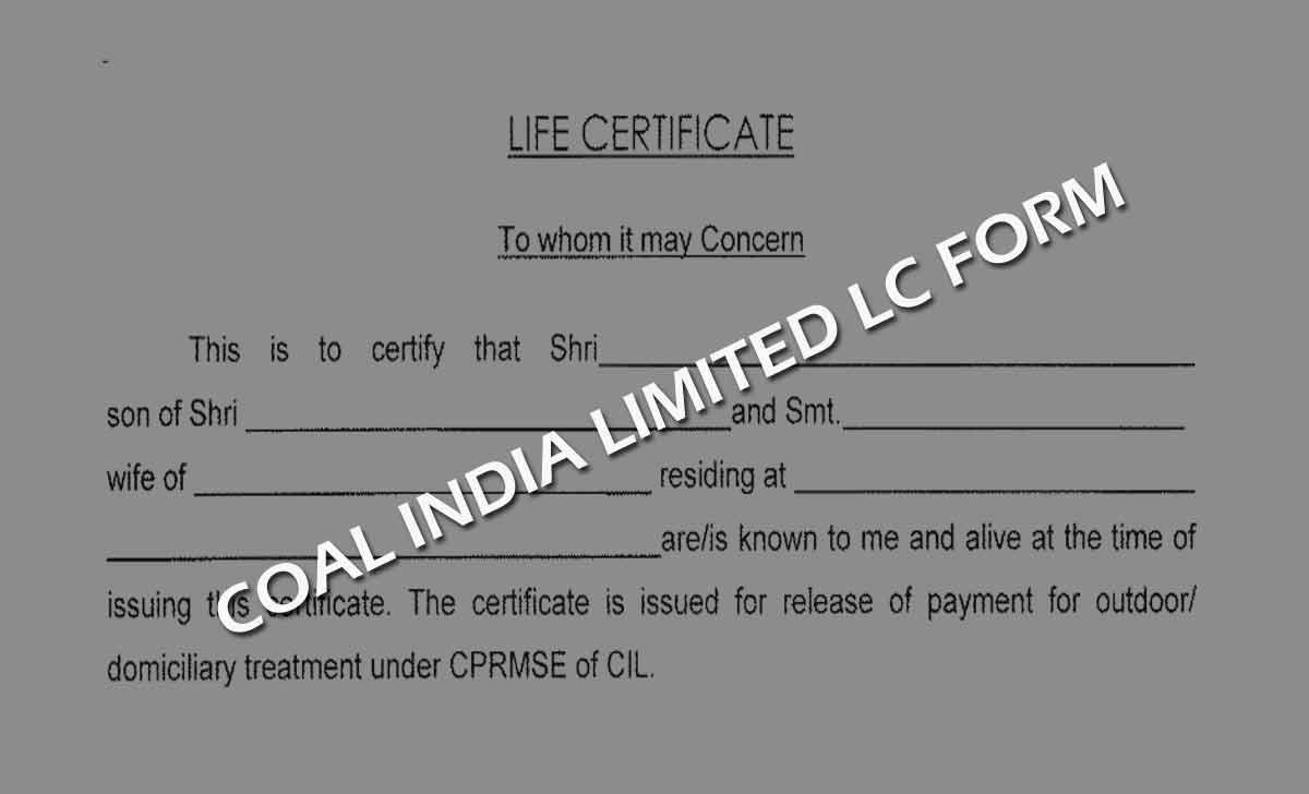 Coal India Life Certificate