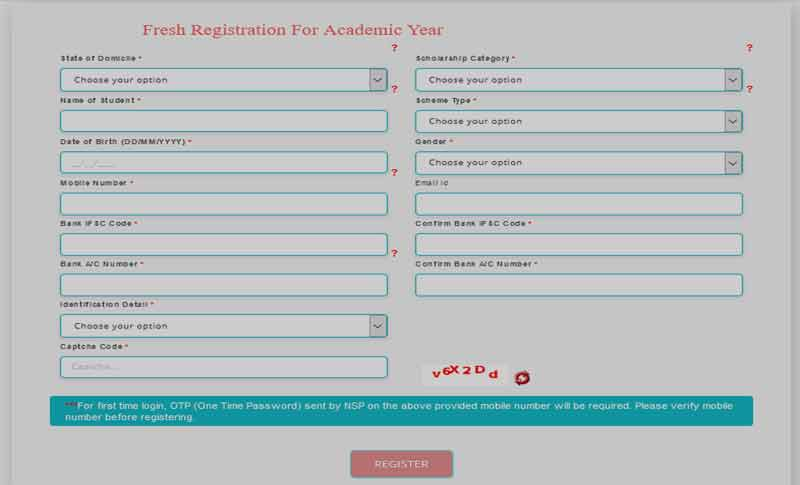 National Scholarship Portal Registration