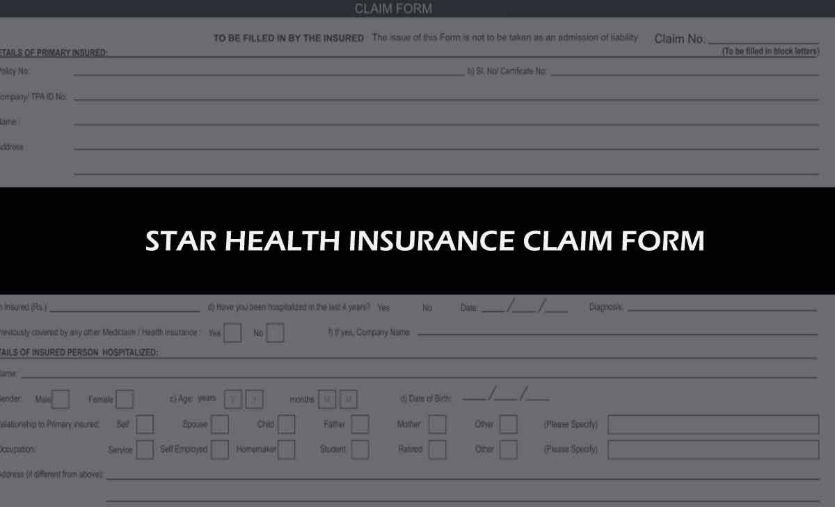 Star health Insurance Claim Form
