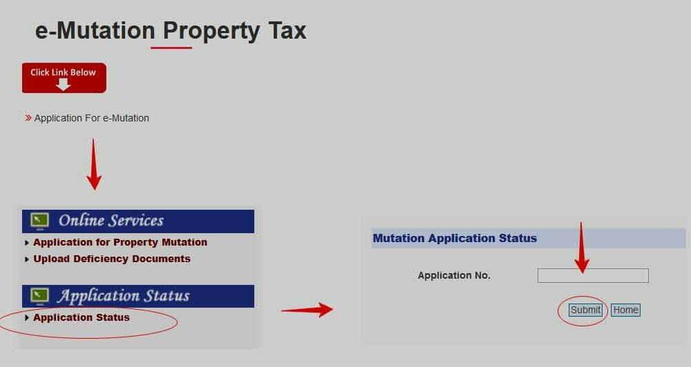 Delhi Property Mutation Application Status Check Online