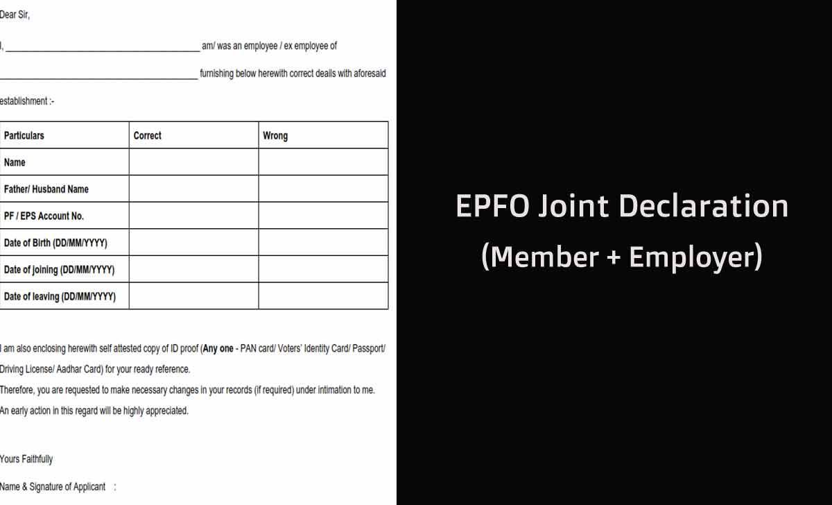 EPF Joint Declaration Form