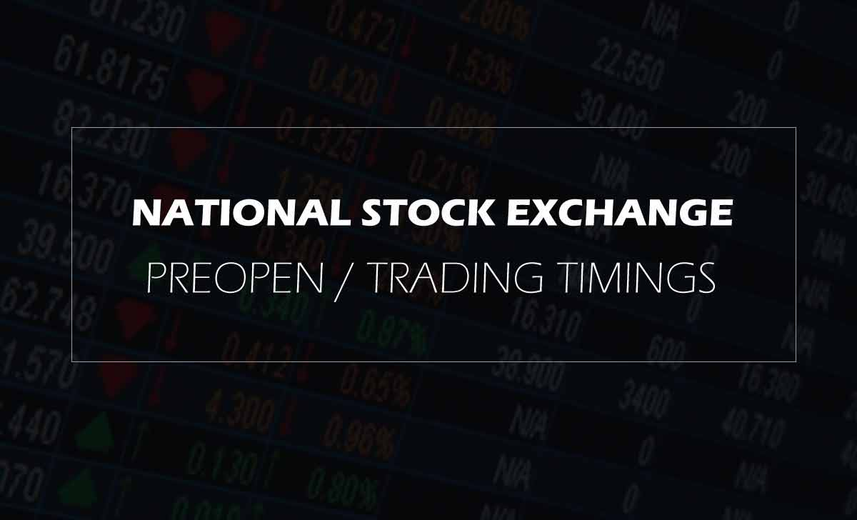 NSE Pre Open Share Market Timings