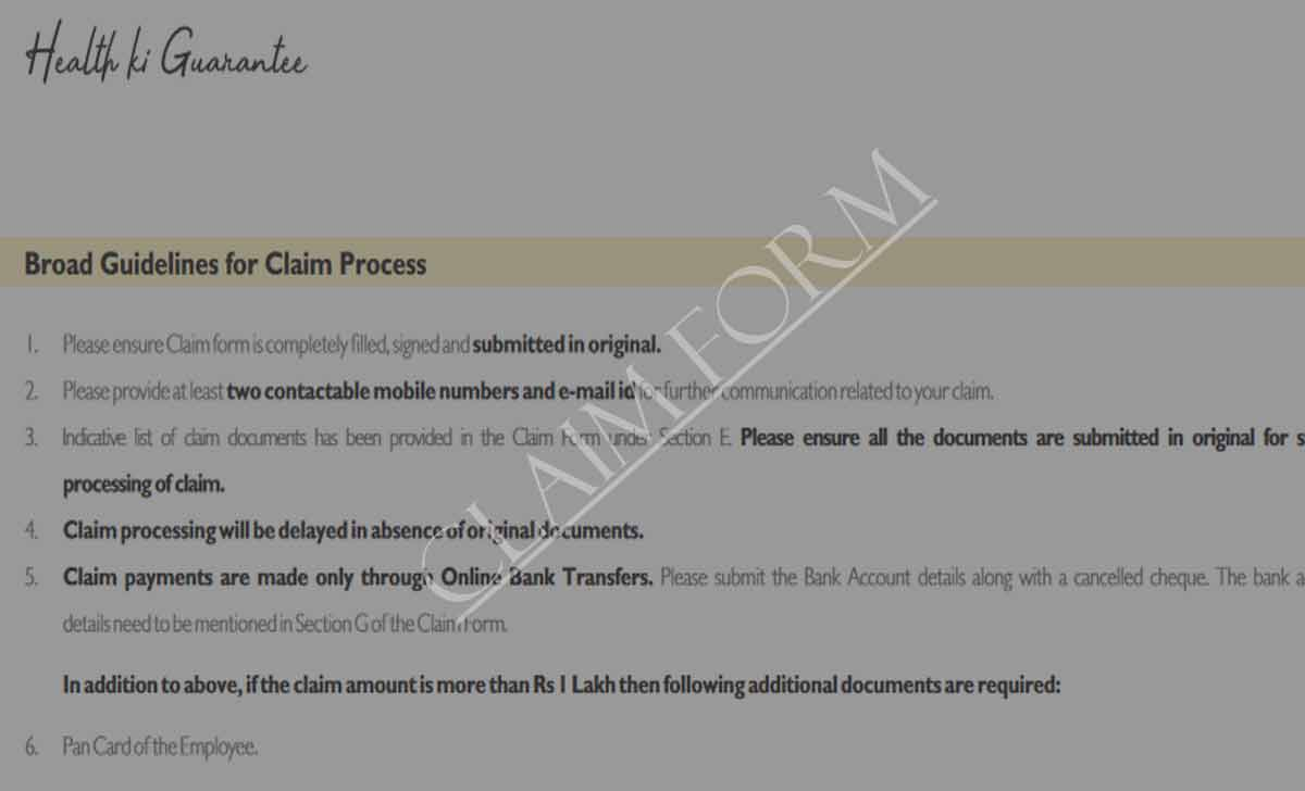 Care Freedom Claim Form