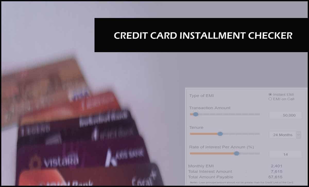 Credit Card EMI Calculator