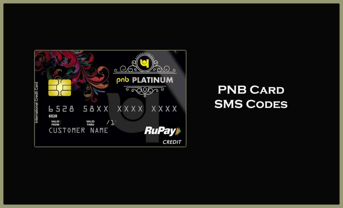 PNB Credit Card SMS Codes