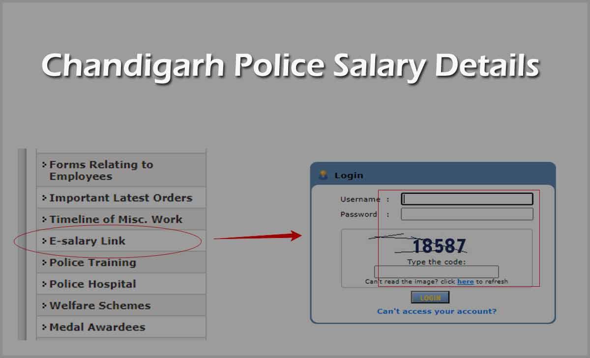 Chandigarh Police Salary Slip