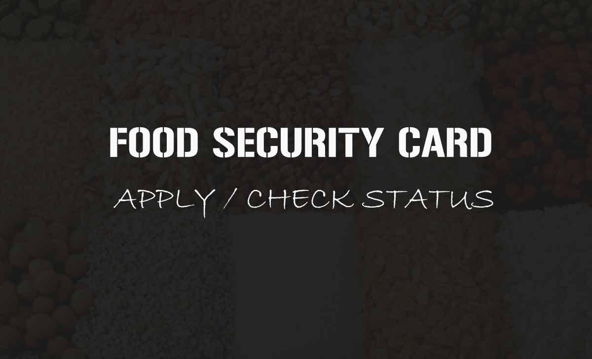 Food Security Card
