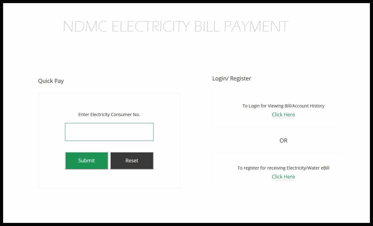 NDMC Electricity Bill
